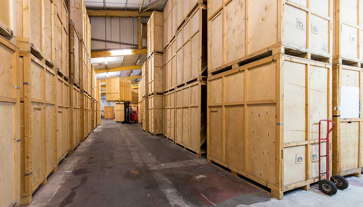 Tripp removals containerised large wooden storage containers