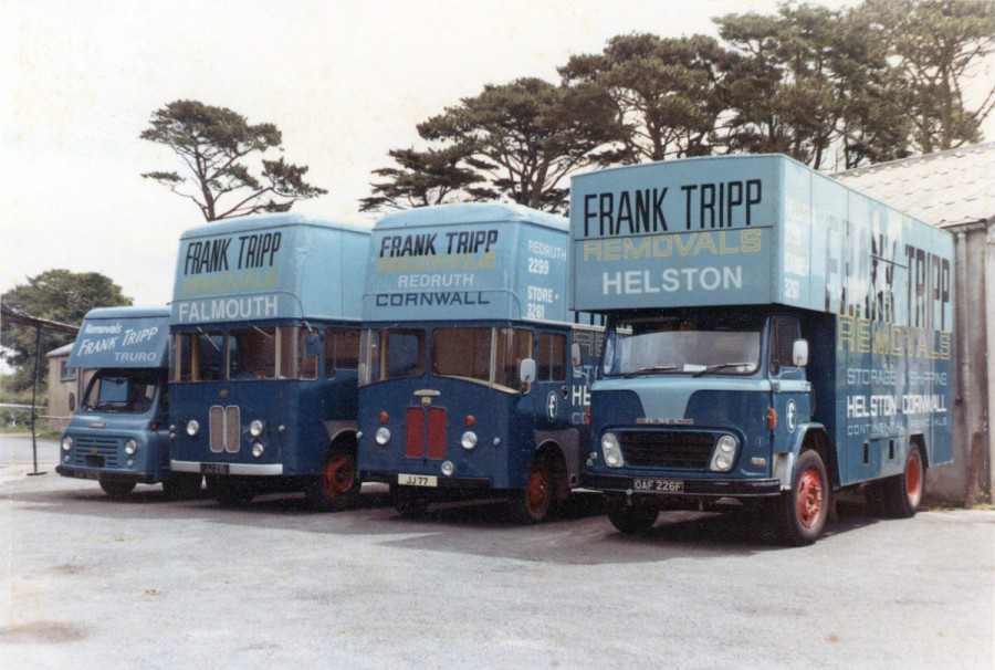 Vintage photograph of Tripp trucks