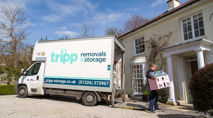 Tripp removals carrying dolls house