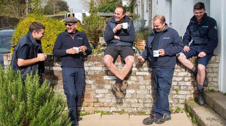Tripp removals staff enjoy a well deserved tea break